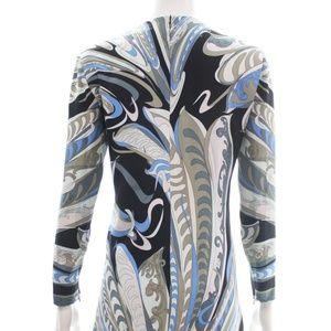 Emilio Pucci Dresses - EMILIO PUCCI LONG SLEEVED V-NECK PRINT DRESS 8